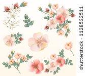 big set of vector pink pastel... | Shutterstock .eps vector #1128532511