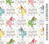 seamless pattern for kids... | Shutterstock .eps vector #1128536204