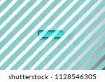 aqua color minus icon on the... | Shutterstock . vector #1128546305