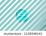 aqua color minus circle icon on ... | Shutterstock . vector #1128548141
