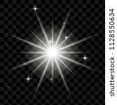 vector sun light lens flare...   Shutterstock .eps vector #1128550634