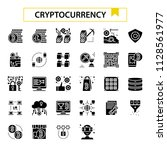 cryptocurrency glyph design... | Shutterstock .eps vector #1128561977
