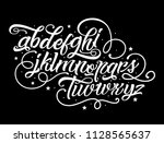 tattoo font. vintage style... | Shutterstock .eps vector #1128565637