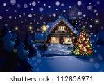 vector of christmas scene ... | Shutterstock .eps vector #112856971