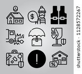 simple 9 icon set of insurance... | Shutterstock .eps vector #1128572267