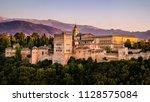 a golden hour view of the...   Shutterstock . vector #1128575084