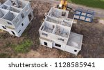 home building with precast... | Shutterstock . vector #1128585941