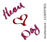 heart day   red hearts | Shutterstock . vector #1128597851