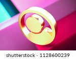 user in circle contour icon on...