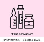 treatment icon signs | Shutterstock .eps vector #1128611621