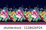 horizontal flower border | Shutterstock .eps vector #1128626924