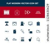 modern  simple vector icon set... | Shutterstock .eps vector #1128630629