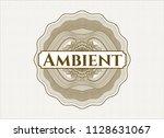 brown rosette  money style... | Shutterstock .eps vector #1128631067