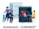 developing programming and... | Shutterstock .eps vector #1128638237