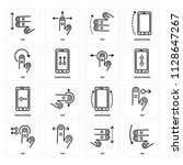 set of 16 icons such as tap ... | Shutterstock .eps vector #1128647267