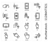 set of 16 icons such as tap ...