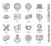set of 16 icons such as video... | Shutterstock .eps vector #1128647801