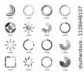set of 16 icons such as loading ...