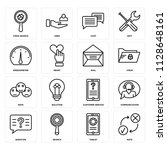 set of 16 icons such as rate ... | Shutterstock .eps vector #1128648161