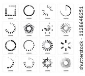 set of 16 icons such as loading ... | Shutterstock .eps vector #1128648251