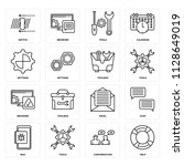 set of 16 icons such as help ...