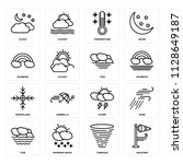 set of 16 icons such as weather ...