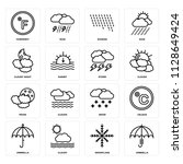 set of 16 icons such as...   Shutterstock .eps vector #1128649424