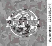 realism on grey camo pattern | Shutterstock .eps vector #1128651044