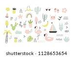 hand drawn summer print | Shutterstock .eps vector #1128653654