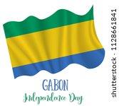 17 august  gabon independence... | Shutterstock .eps vector #1128661841