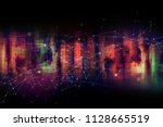 virtual city communication... | Shutterstock . vector #1128665519