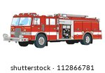 trucks equipped for rescue and... | Shutterstock .eps vector #112866781
