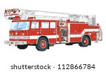 trucks equipped for rescue and...   Shutterstock .eps vector #112866784