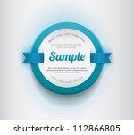 white vector round plastic... | Shutterstock .eps vector #112866805