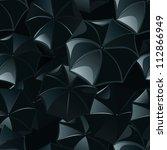 black umbrellas seamless