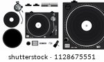 turntable vector mockup.... | Shutterstock .eps vector #1128675551