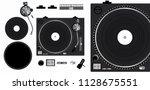 turntable vector mockup.... | Shutterstock .eps vector #1128675551