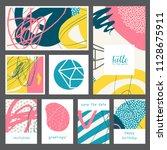 set of creative universal...   Shutterstock .eps vector #1128675911