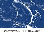 grunge texture. distress indigo ... | Shutterstock .eps vector #1128676304