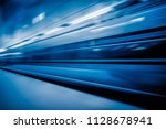 view of high speed train... | Shutterstock . vector #1128678941