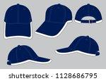 set baseball cap design vector  ...   Shutterstock .eps vector #1128686795