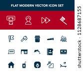 modern  simple vector icon set... | Shutterstock .eps vector #1128687155