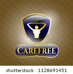 gold badge with lat pull down  ... | Shutterstock .eps vector #1128691451