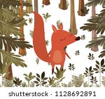 wild chipmunk in the jungle... | Shutterstock .eps vector #1128692891