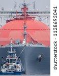 gas carrier   a great tanker...   Shutterstock . vector #1128693041