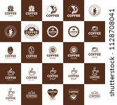 coffee logo   vector...   Shutterstock .eps vector #1128708041