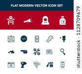 modern  simple vector icon set... | Shutterstock .eps vector #1128709679