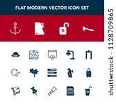modern  simple vector icon set... | Shutterstock .eps vector #1128709865