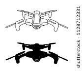 drone quadrocopter vector... | Shutterstock .eps vector #1128712331