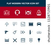 modern  simple vector icon set... | Shutterstock .eps vector #1128715901